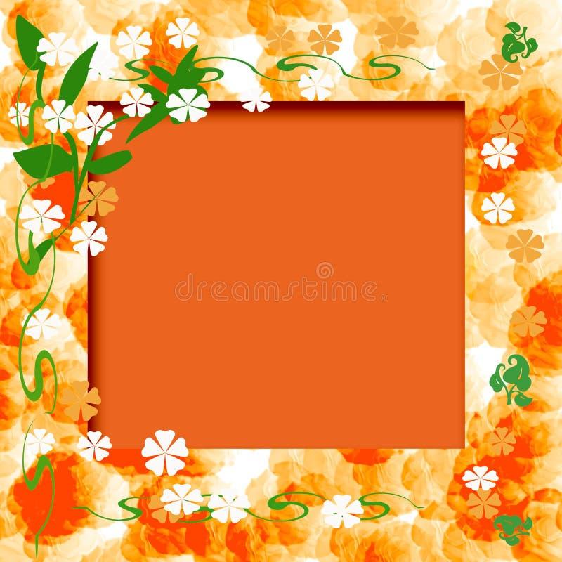 Download Sunny orange frame stock illustration. Illustration of card - 4321846