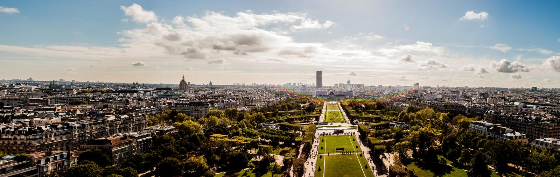 Sunny Paris royalty-vrije stock foto