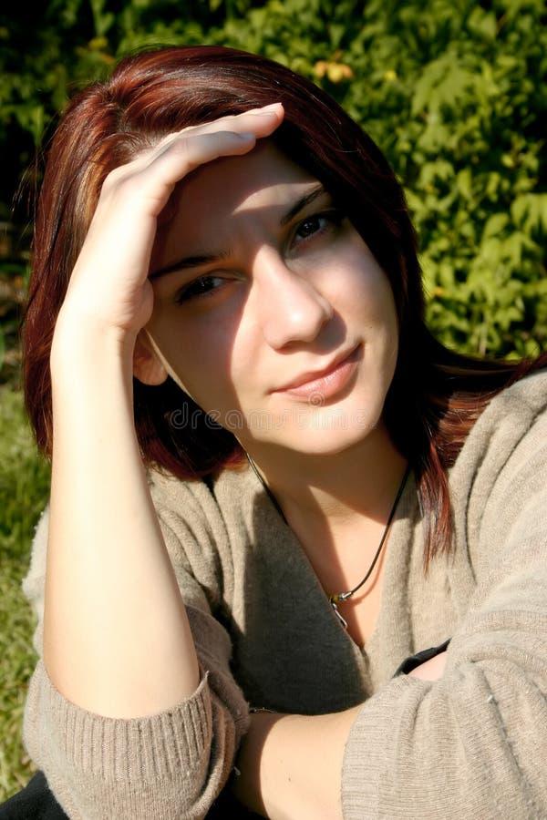 Sunny portrait stock photography