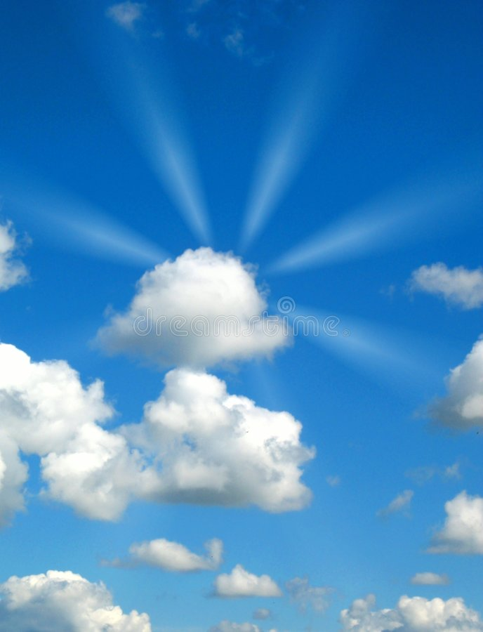 Download Sunny rays stock image. Image of nature, heaven, clear - 3396761