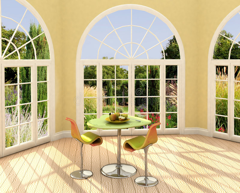 Download Sunny room stock image. Image of expensive, decor, chirs - 2456199