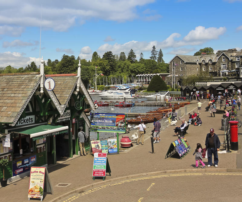 A Sunny Scene in Bowness-on-Windermere