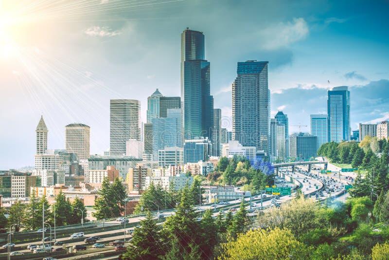 Sunny Seattle Day foto de stock