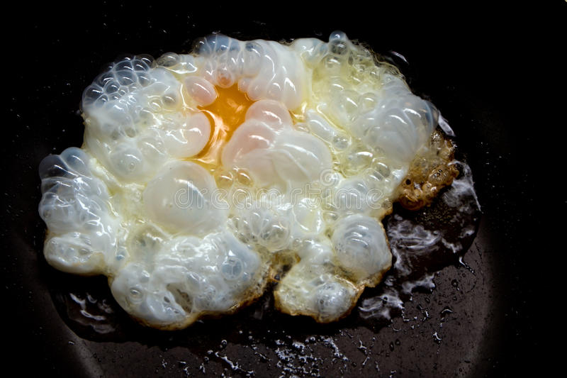 Sunny side up frying egg royalty free stock image