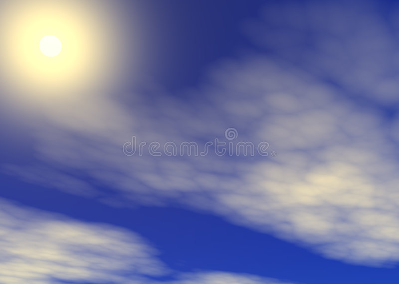 Sunny Sky Stock Images