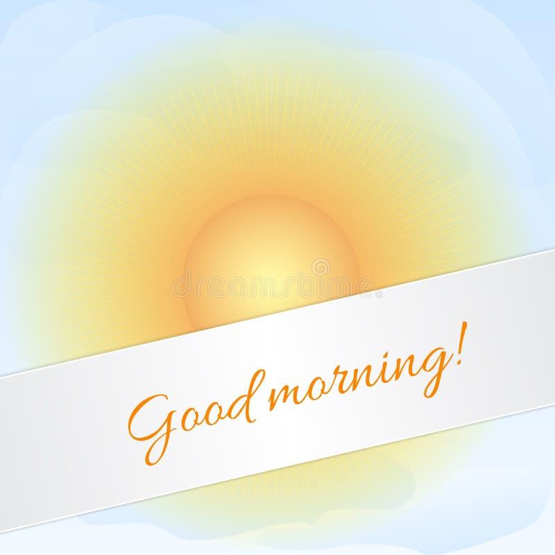 Sunny sky card vector illustration