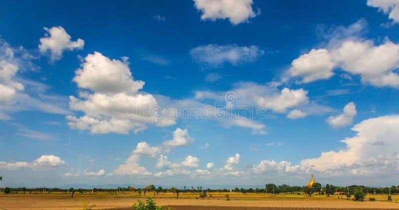 Sunny sky in Mandalay, Myanmar. Lanscape of sunny blue sky in Mandalay, Myanmar stock photos