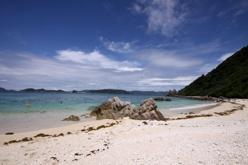 Download Sunny Sky Over Tropical Beach In Okinawa, Japan Stock Image - Image of japanese, isolated: 10095963