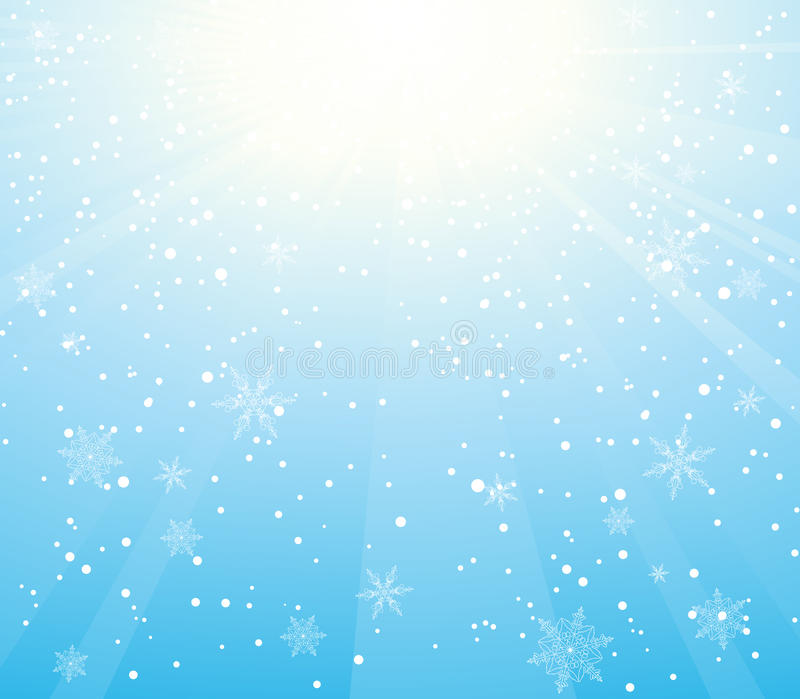 Download Sunny snowfall stock vector. Illustration of snowflake - 11580715