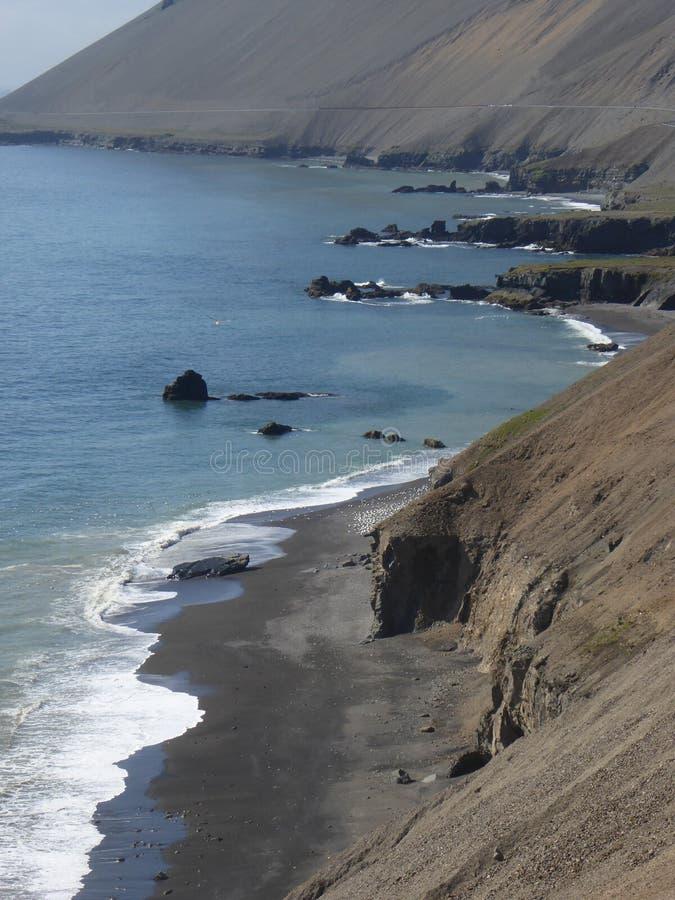 Sunny Southcoast Iceland photographie stock libre de droits