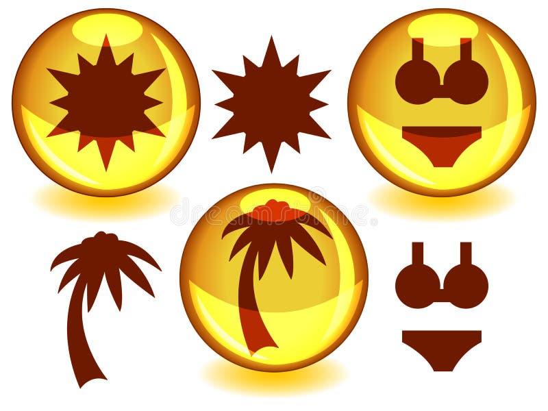 Sunny spheres stock illustration