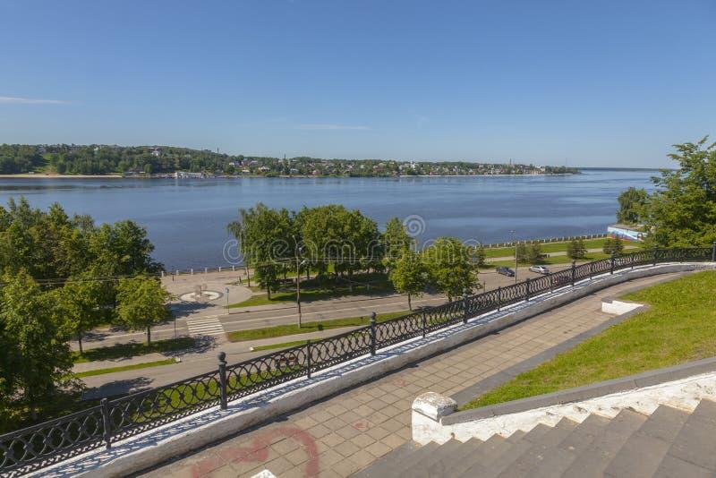 Spring Volga River embankment royalty free stock images