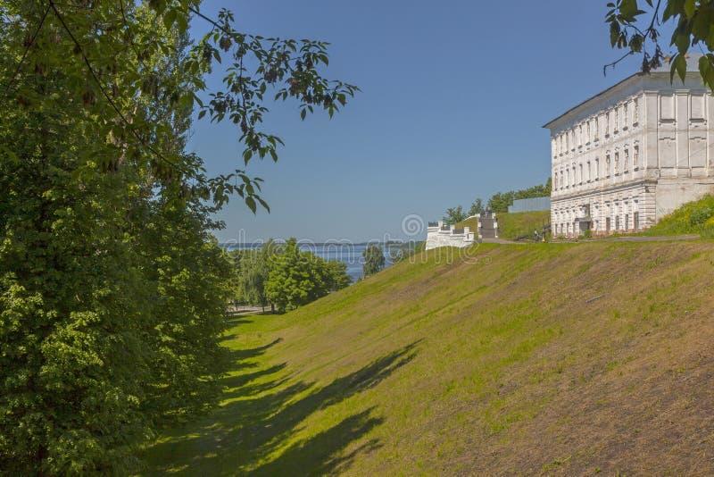 Spring Volga River embankment royalty free stock photo