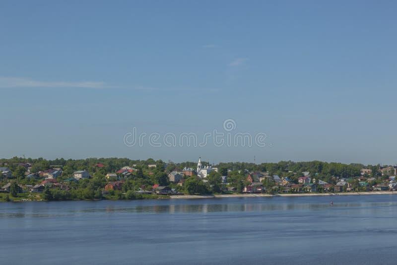 Spring Volga River embankment stock images