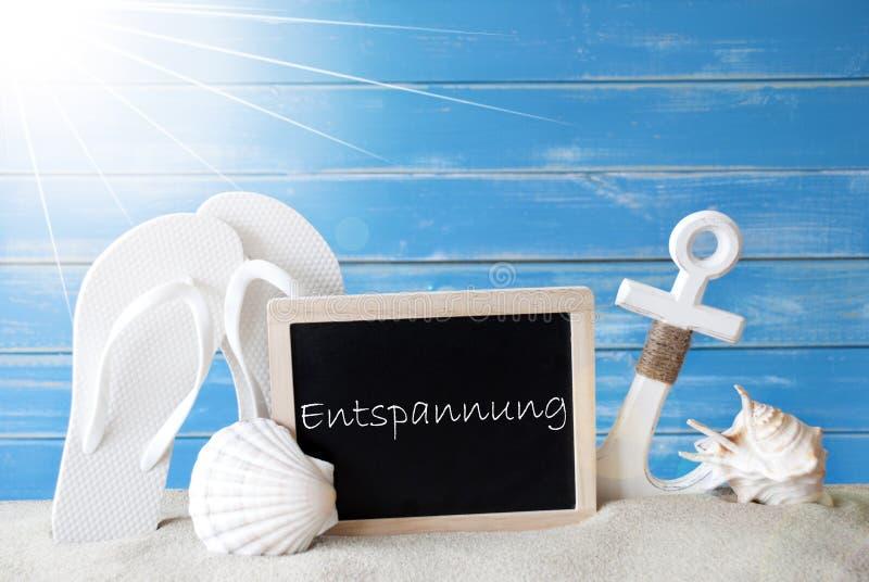 Sunny Summer Card With Entspannung betyder avkoppling royaltyfri fotografi