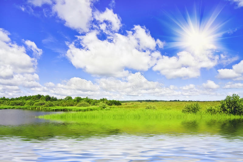 Sunny summer day stock photography
