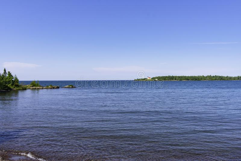 A Summer Day in Copper Harbor. A Sunny Summer Day in Copper Harbor stock photo