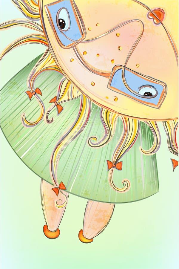 Download Sunny Summer Girl stock vector. Image of poster, seasonal - 24722961