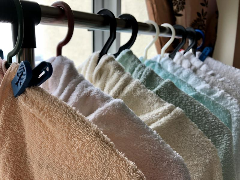 Sunny Morning Is the Perfect Time to do Laundry royalty free stock images