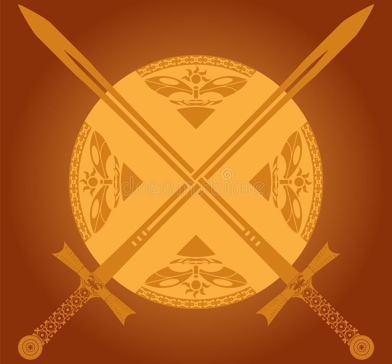 Download Sunny swords stock vector. Illustration of scottish, black - 22959584