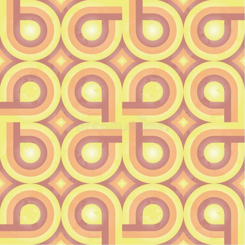sunny tkanina retro wzoru ilustracji