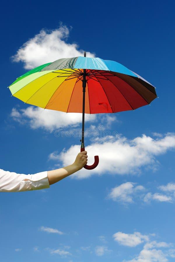 Sunny umbrella royalty free stock image