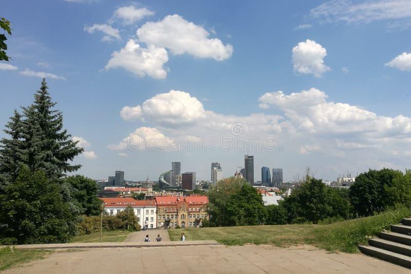 Sunny Vilnius fotografie stock
