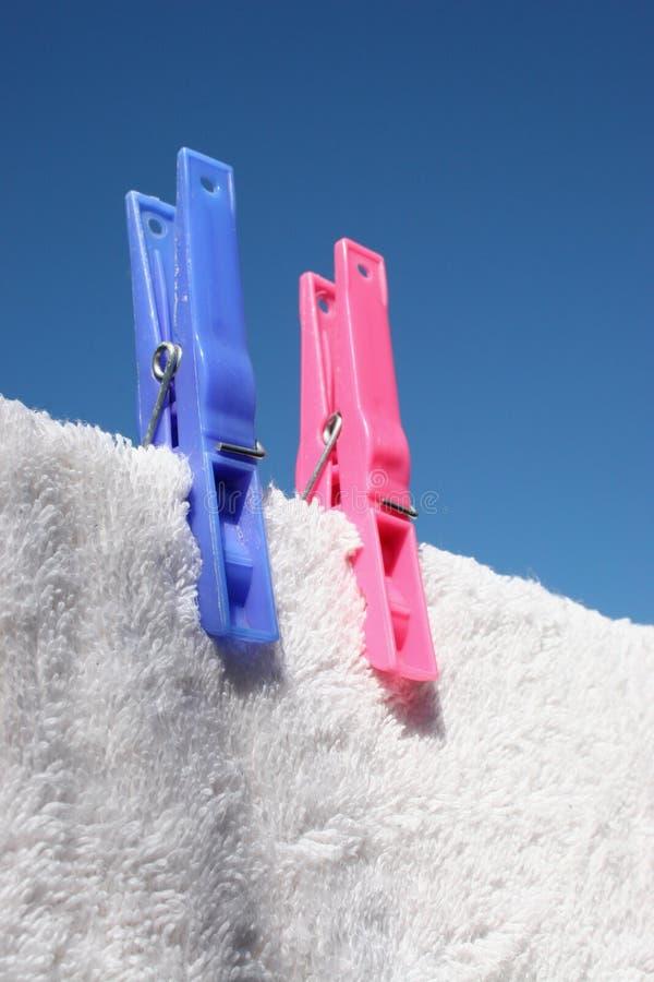 Sunny Washing Day royalty free stock photo