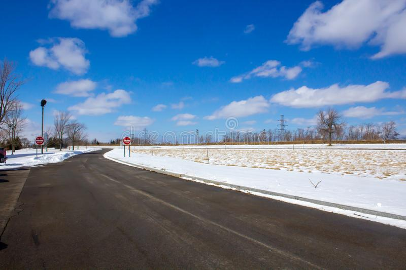 Sunny winter day at Scenic Place royalty free stock photography