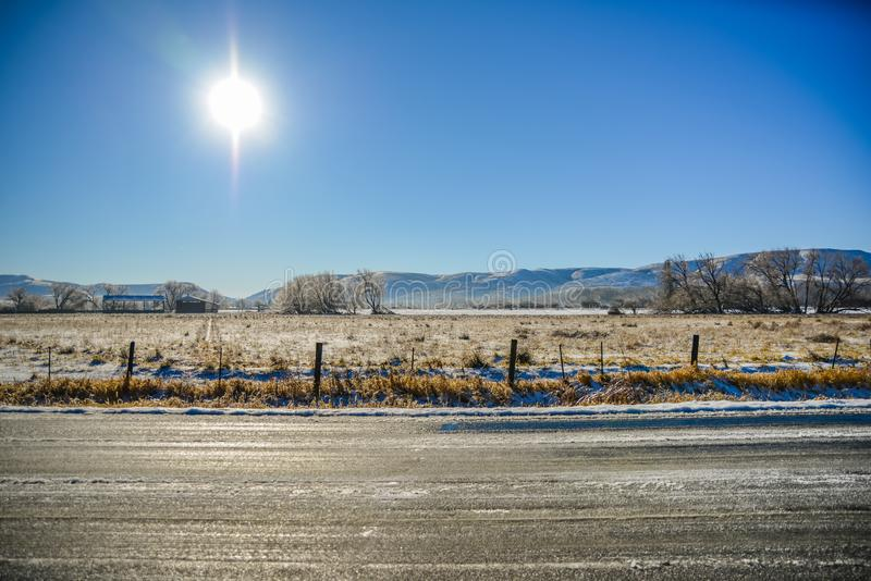 A Sunny Winter On The Farm, Ellensburg, WA, USA royalty free stock images