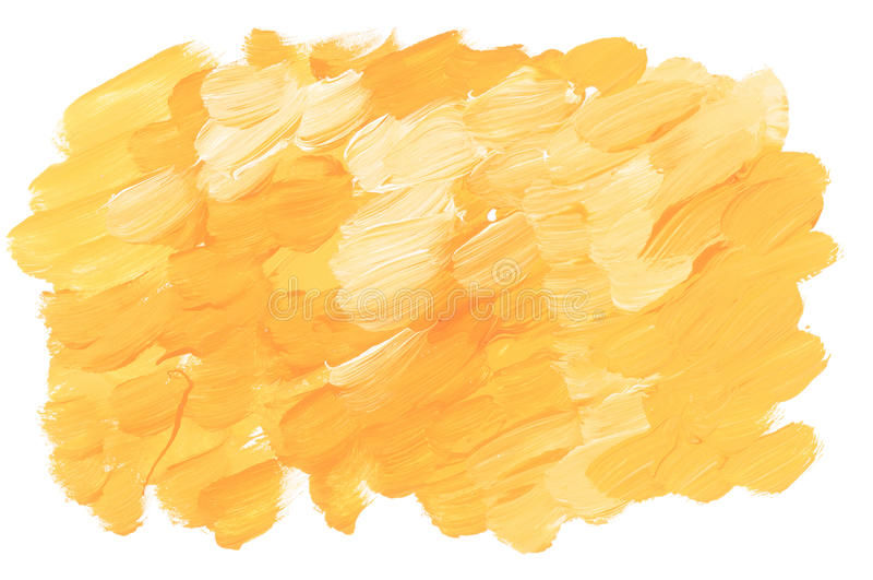 Sunny yellow acrylic paint brush stroke royalty free illustration