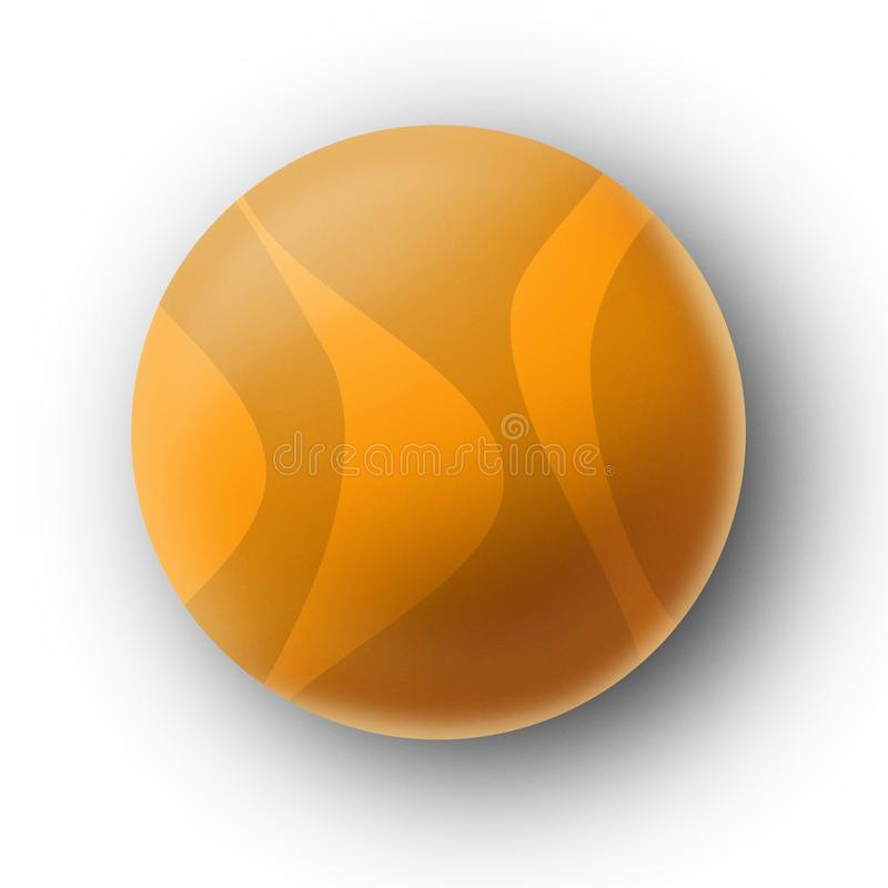 Download Sunny Yellow Ball / Pong / Tennis / Summer Happy Stock Illustration - Image: 10407389