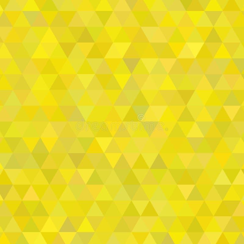 Sunny Yellow Shades Background Square dos triângulos ilustração do vetor