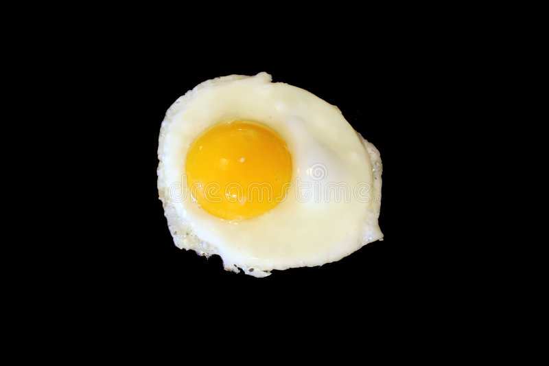 Download Sunnyside Up Egg Frying Isolated On Black Stock Image - Image: 3623863