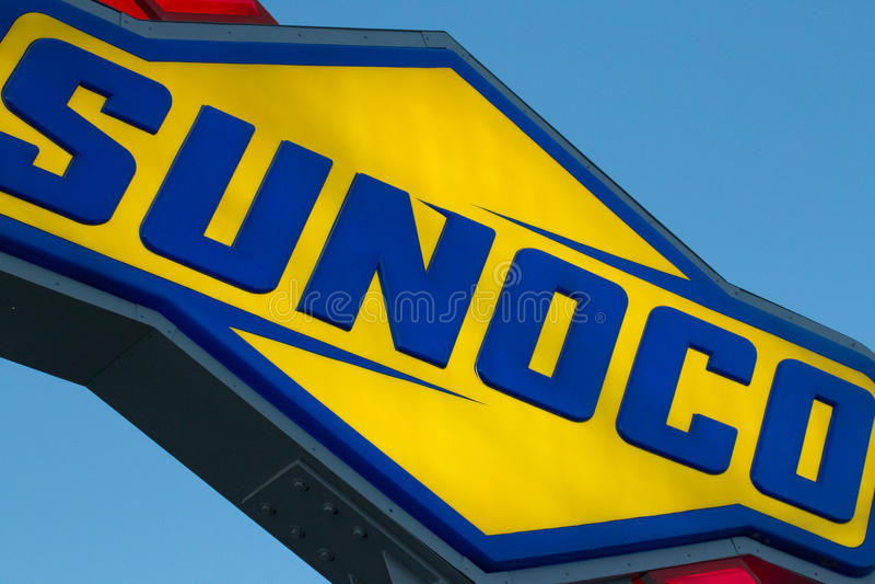 Sunoco le carburant officiel des sports mécaniques de NASCAR image libre de droits