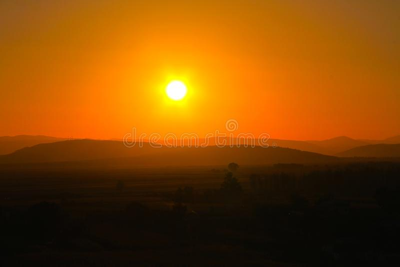 Sunquest in Ceahlau royalty-vrije stock foto's