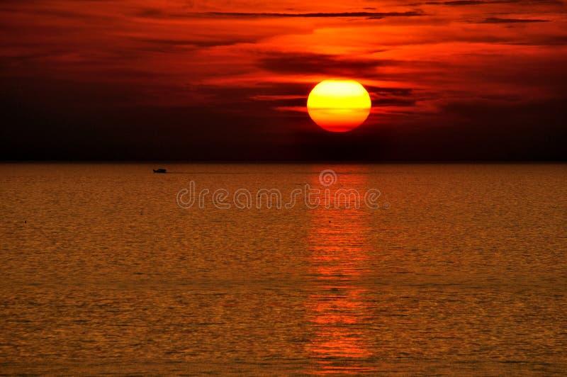 Sunraise no amanhecer imagem de stock