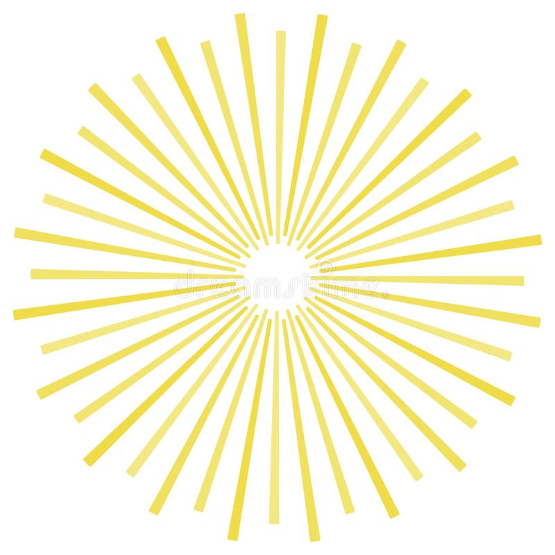 Yellow stripes sunrays background. Sunrays yellow color vector eps10 background. vector illustration