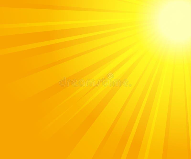 Sunrays illustration stock