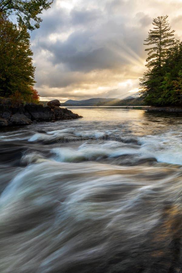 Free Sunrays Beaming On Indian Lake Adirondacks New York Royalty Free Stock Photography - 168942017