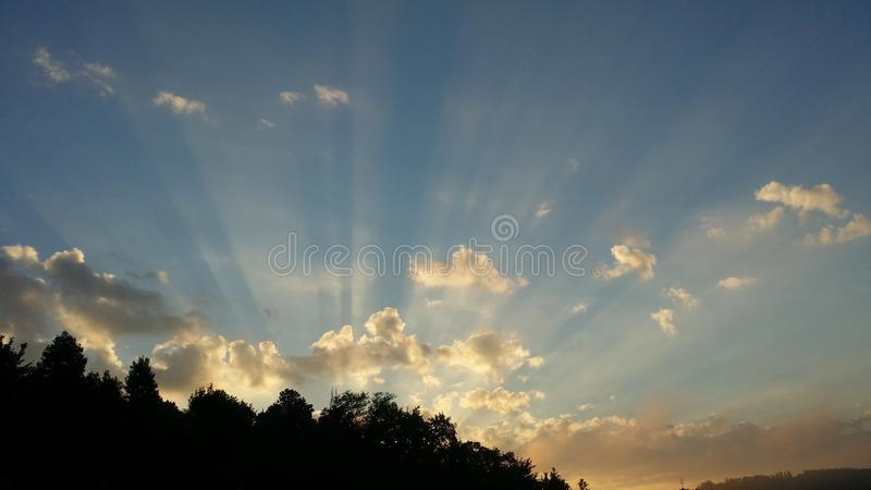 Sunrays stock photography