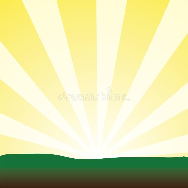 sunrays TARGET1778_0_ kolor żółty ilustracja wektor