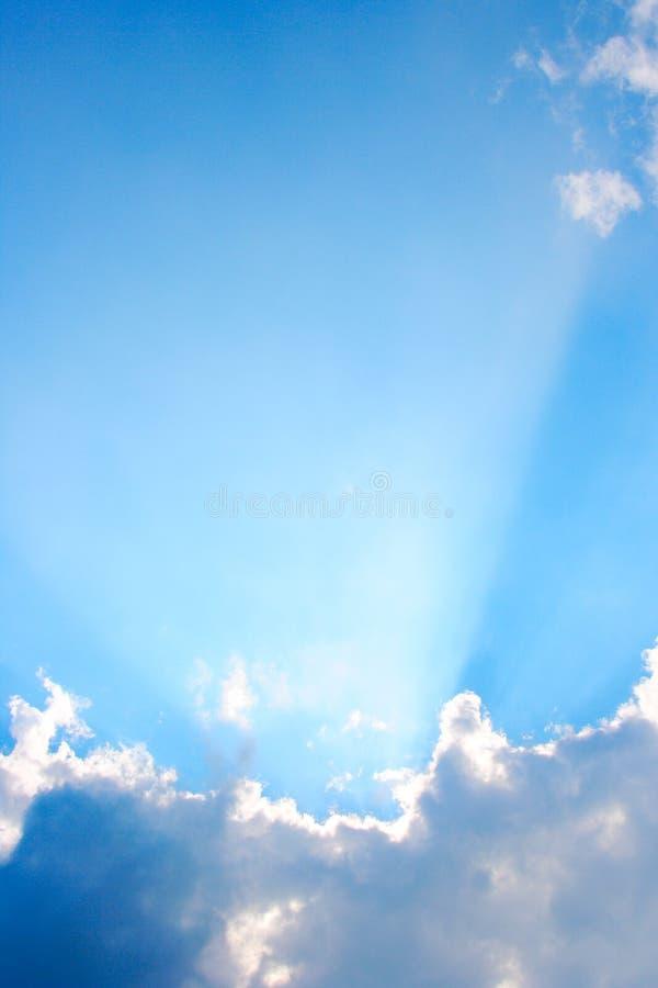 Sunrays verticaux photo libre de droits