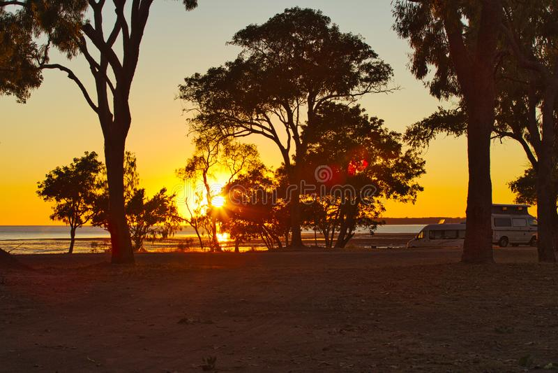 Sunris t Clairview Queensland Australia fotos de archivo