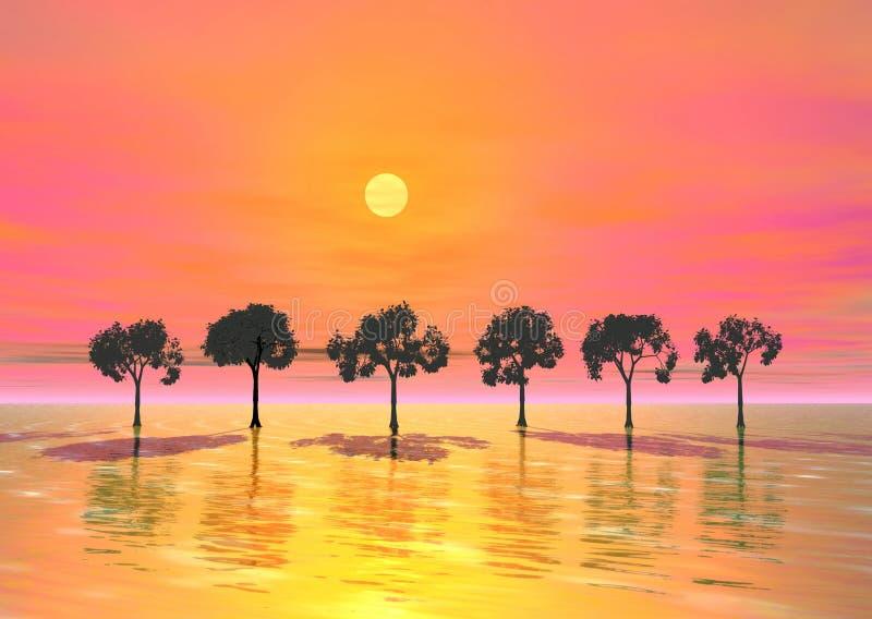 Download Sunrise stock illustration. Illustration of cover, artistic - 11148897
