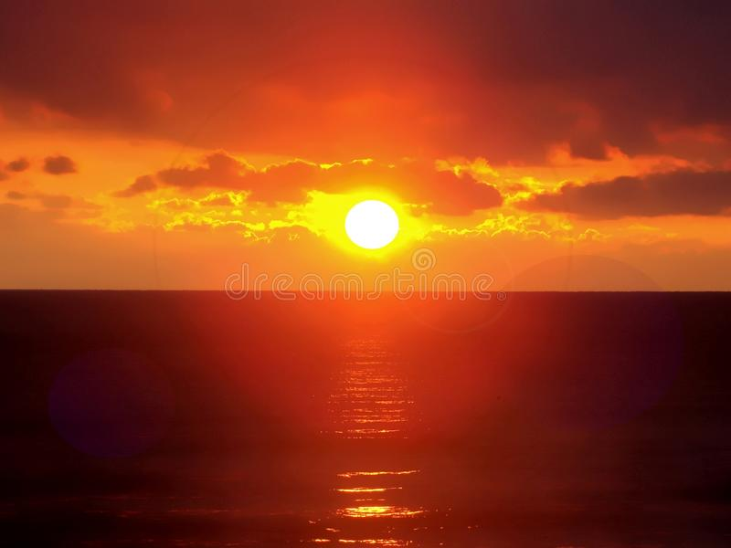 Sunrise. Image of sunrise or sunset at the sea