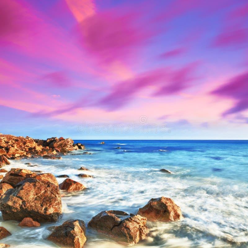 Download Sunrise stock photo. Image of ocean, evening, scene, fantasy - 18022618
