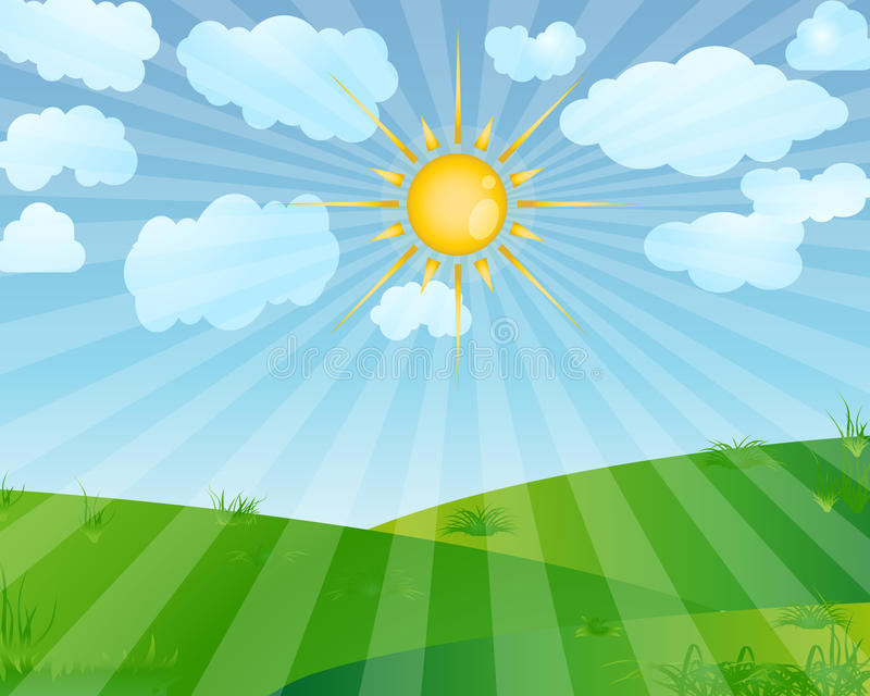 Download Sunrise stock vector. Image of sunny, summer, sunrise - 21048162