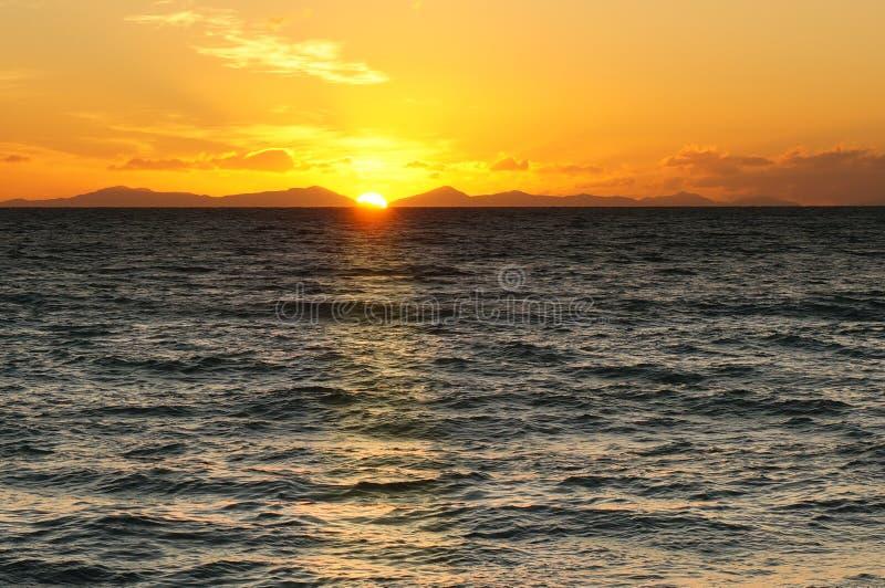 Sunrise Abel Tasman National Park, New Zealand stock photography