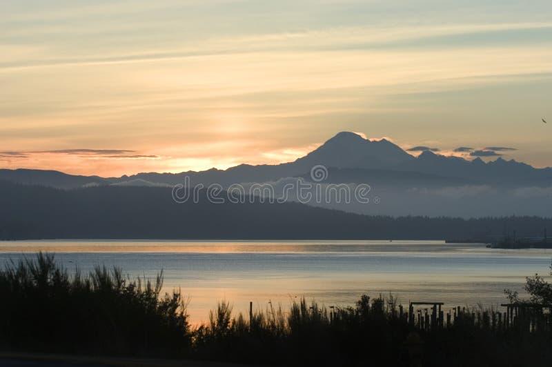 Sunrise in Anacortes, Washington royalty free stock photography